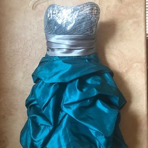 Trixxi Teal Formal Homecoming Dress Juniors Size 3